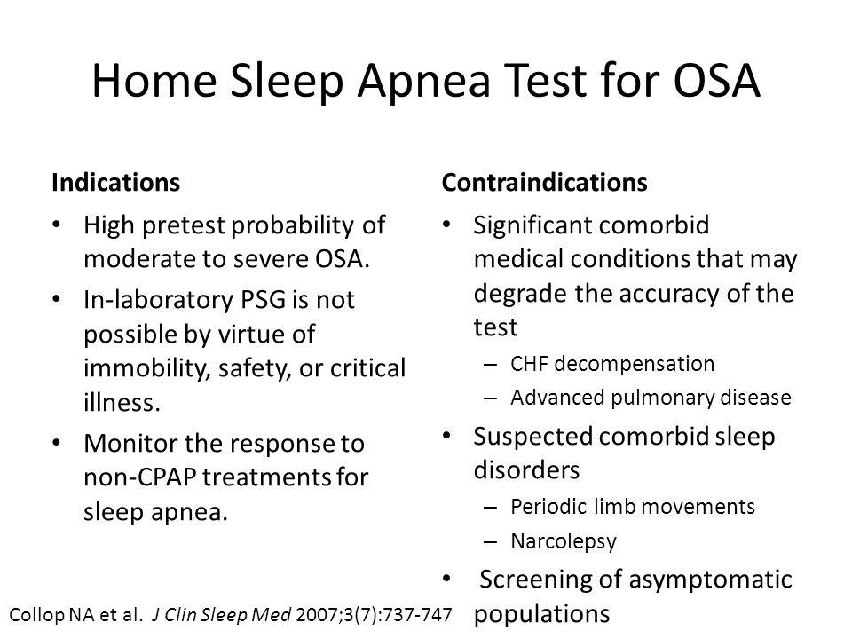 Home Sleep Apnea Test for OSA