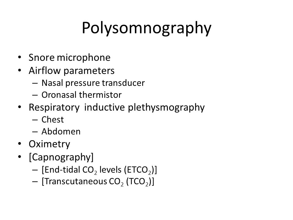 Polysomnography Snore microphone Airflow parameters