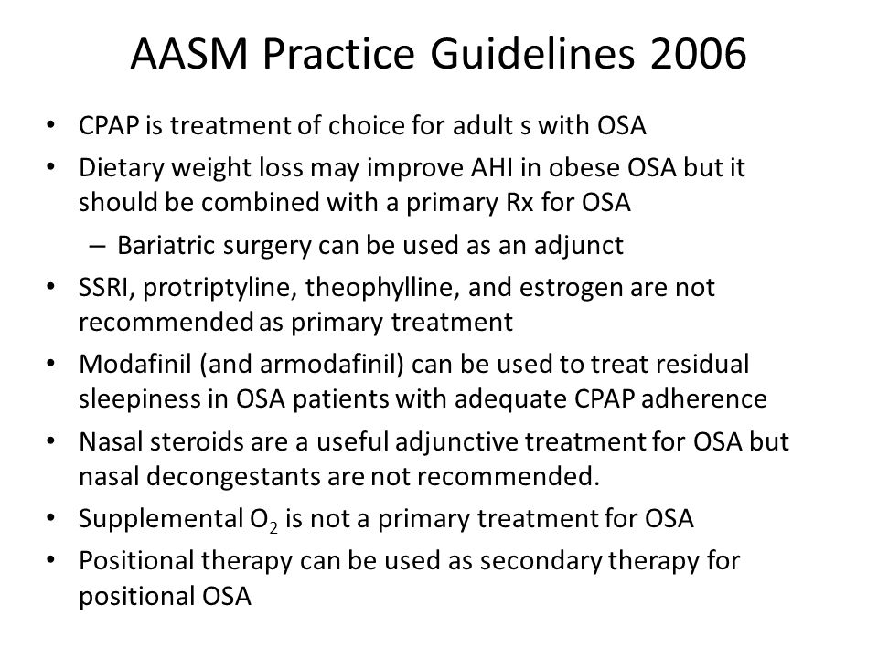 AASM Practice Guidelines 2006