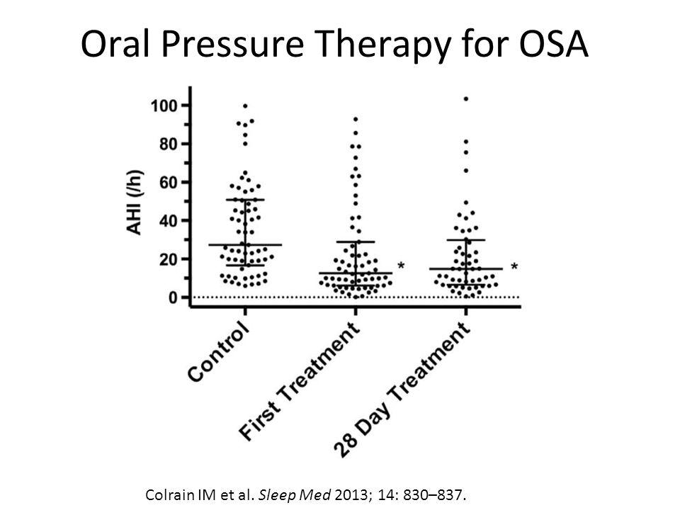 Oral Pressure Therapy for OSA