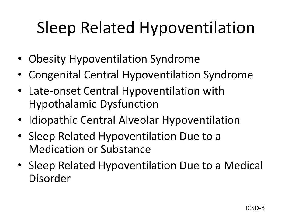Sleep Related Hypoventilation