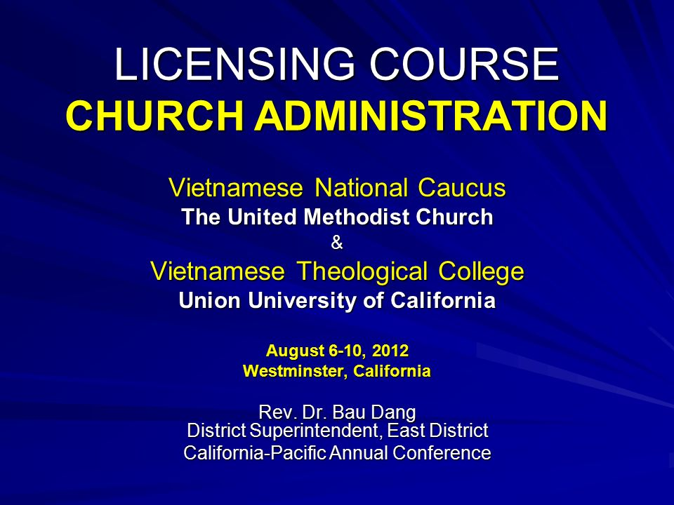 licensing course church administration - Church Administrator Salary