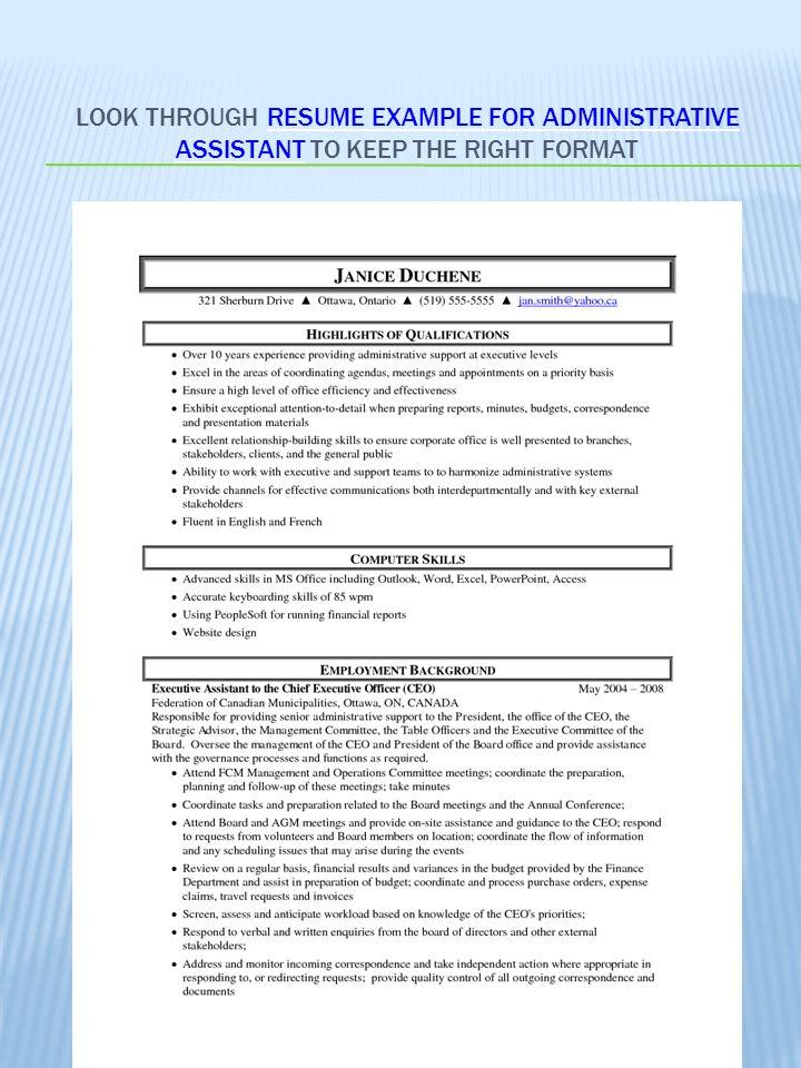 powerpoint resume example