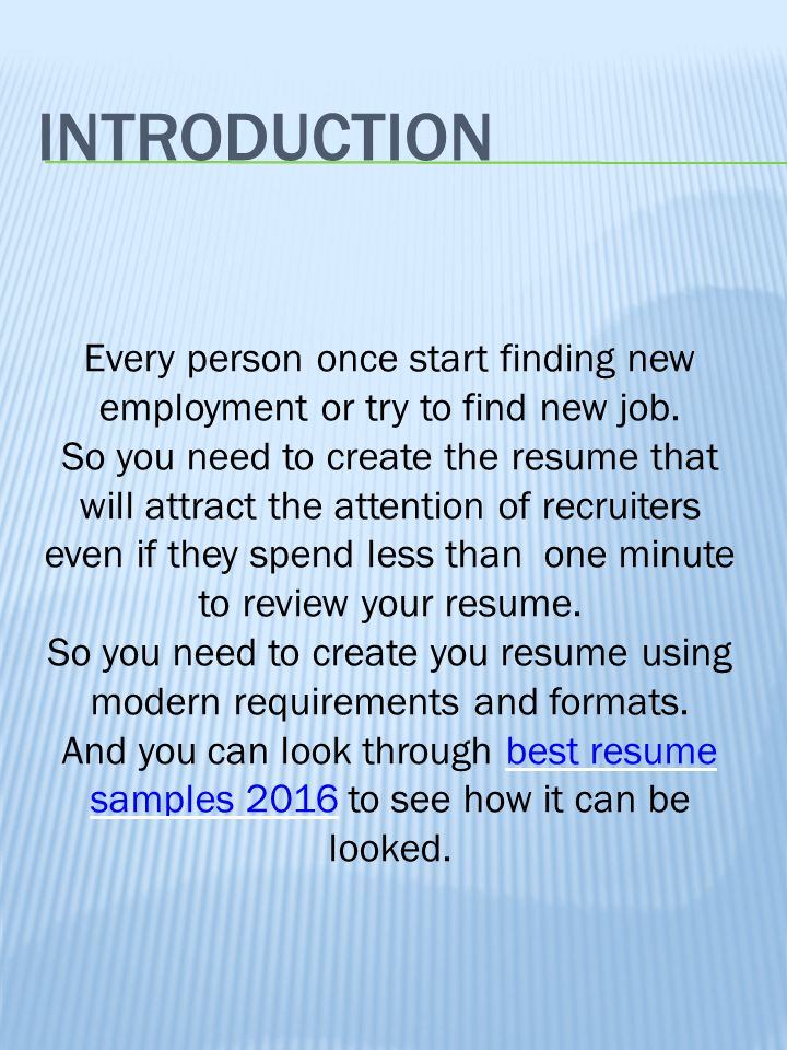 A Good Resume Example | Resume Examples And Free Resume Builder