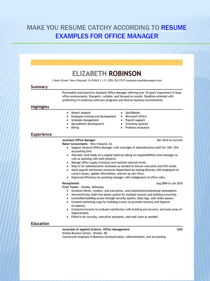 How to create good resume: resume examples ppt video online download