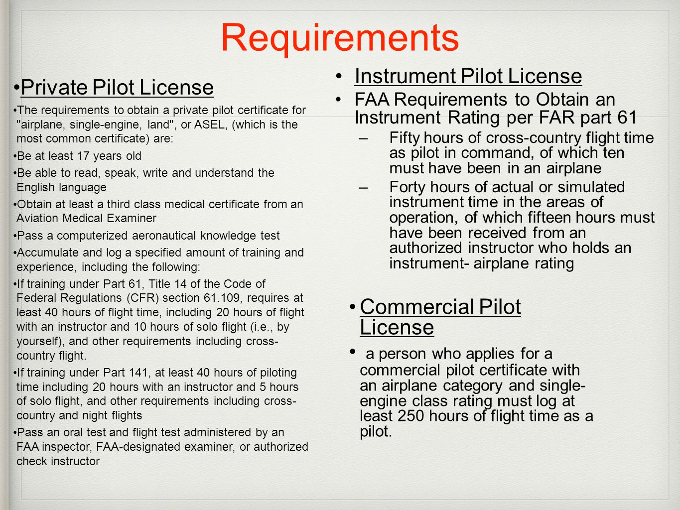 Learn to fly with beach aviation ppt download 12 requirements instrument 1betcityfo Image collections