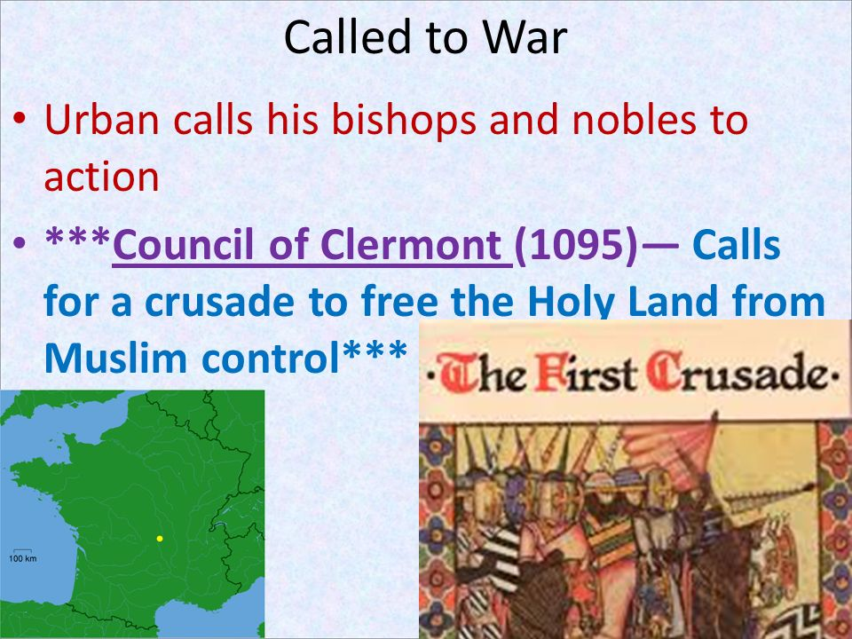 Called to War Urban calls his bishops and nobles to action