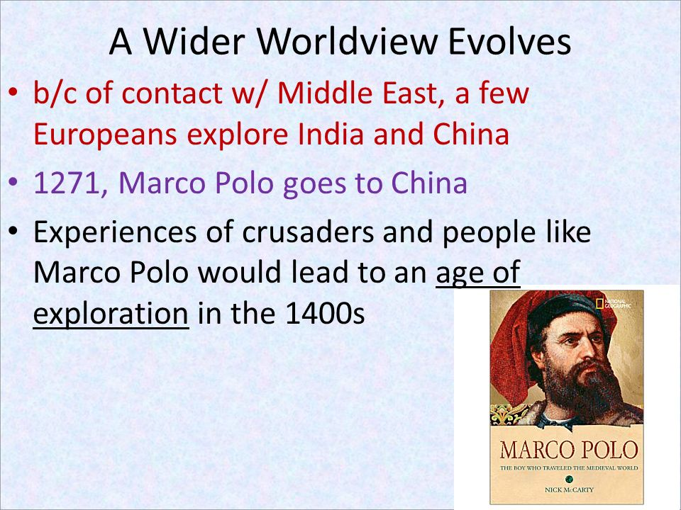 A Wider Worldview Evolves