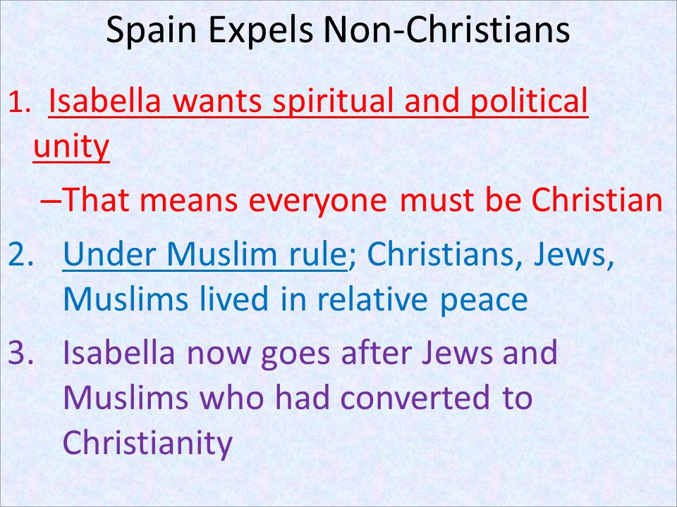 Spain Expels Non-Christians