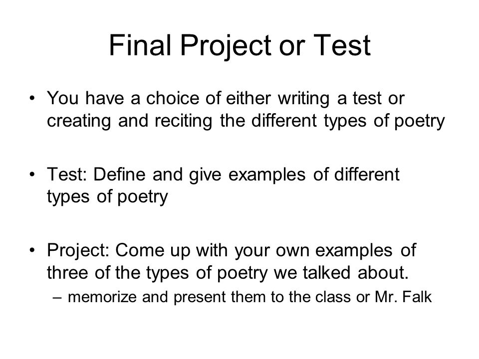 types of poems essay