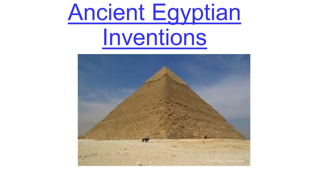 Inventions on ancient egypt