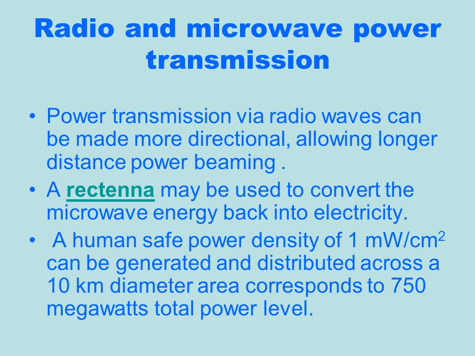 the history of power transmission by radio waves pdf