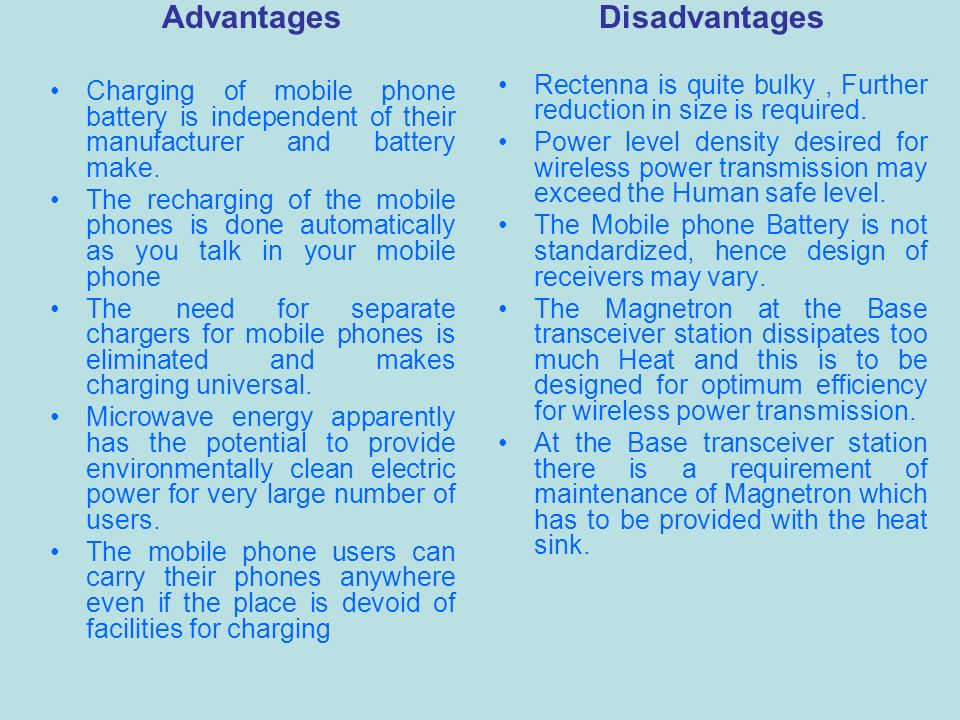Wireless Charging Of Mobile Phones Using Microwaves Ppt