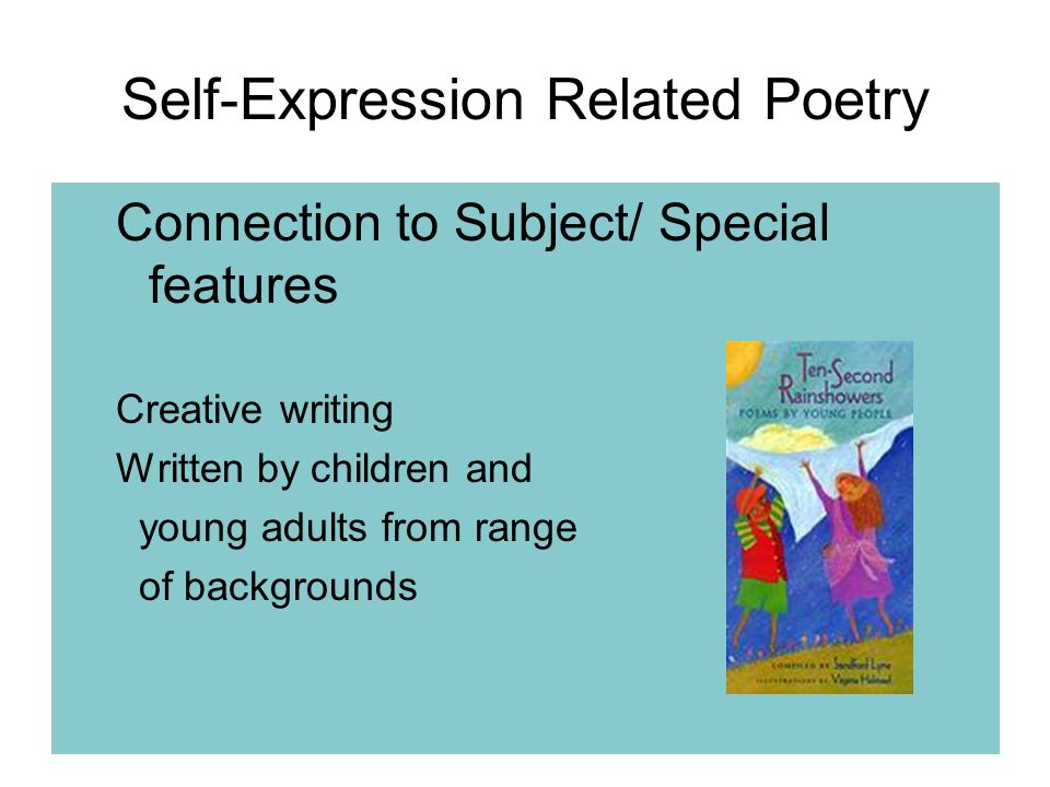 essay on self expression We must not think of self expression as something we may do or  the artists  rights society for permission to reprint this astonishing essay.