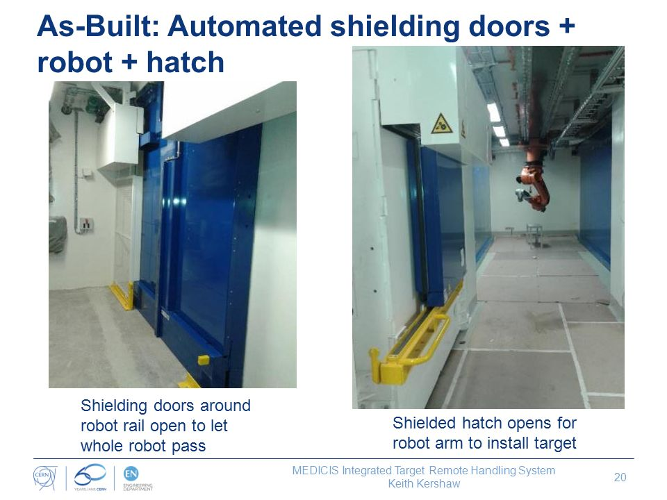 As-Built Automated shielding doors + robot + hatch  sc 1 st  SlidePlayer & An Integrated Remote Target Handling System for CERNu0027s MEDICIS ... pezcame.com