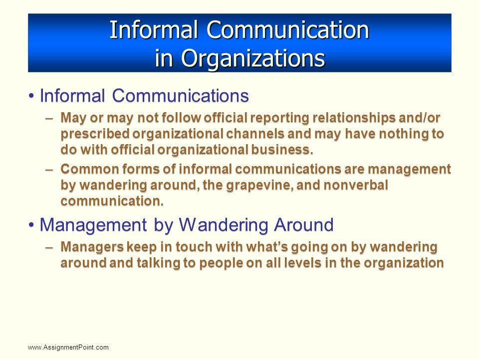 a report on formal communication network This article outlines 10 tips for creating a network analysis report the company should further analyze a particular area of communication.