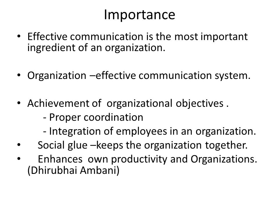 organizational behaviour effective communication