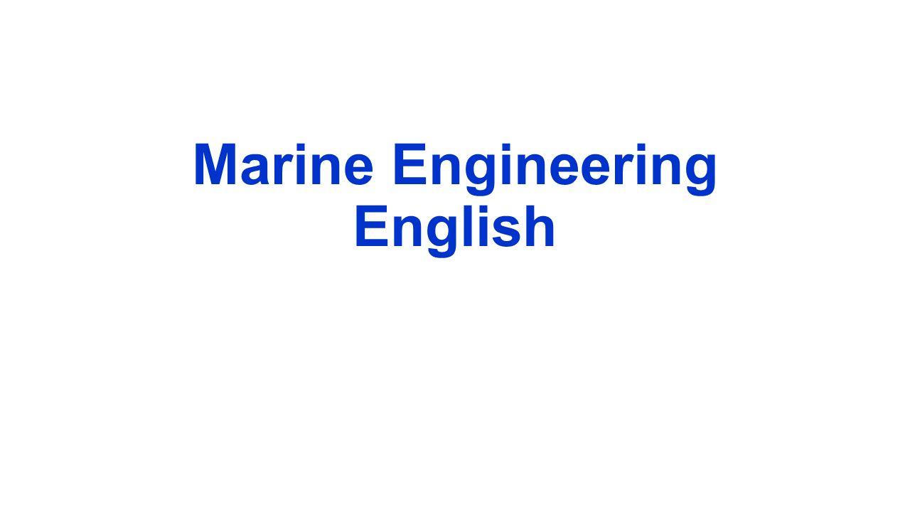 Marine Engineering English