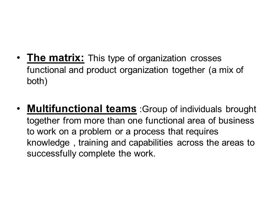 multidivisional and multifunctional structure