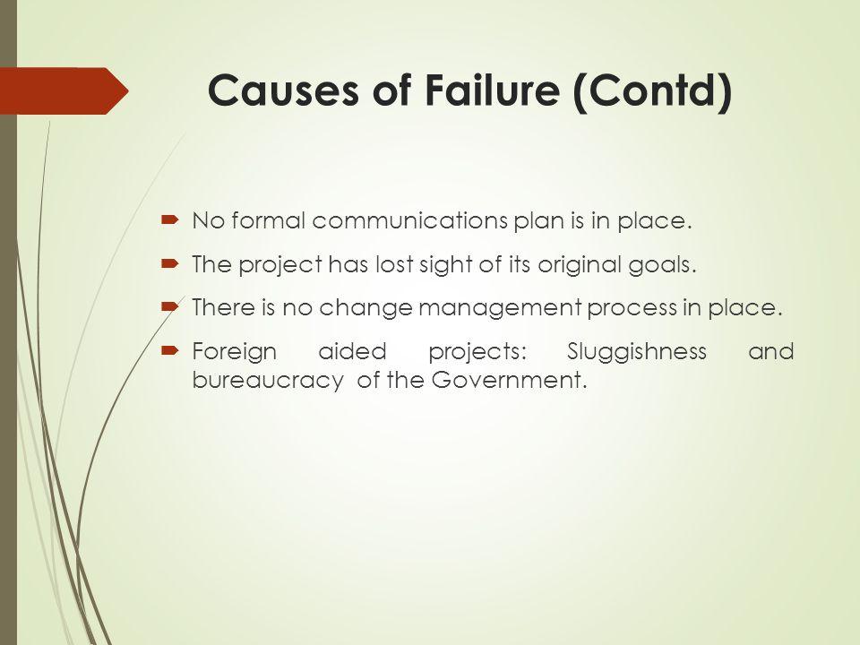 Causes of Failure (Contd)