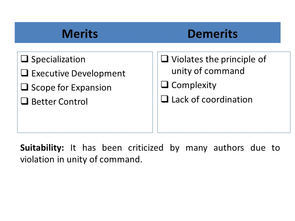 Merits Demerits Specialization Executive Development