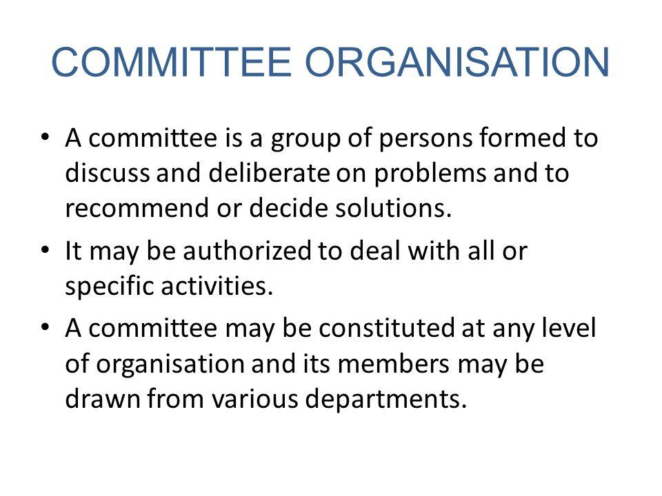 COMMITTEE ORGANISATION