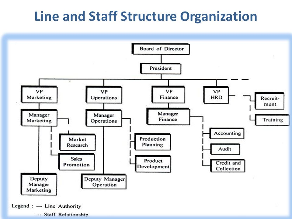 Line and Staff Structure Organization