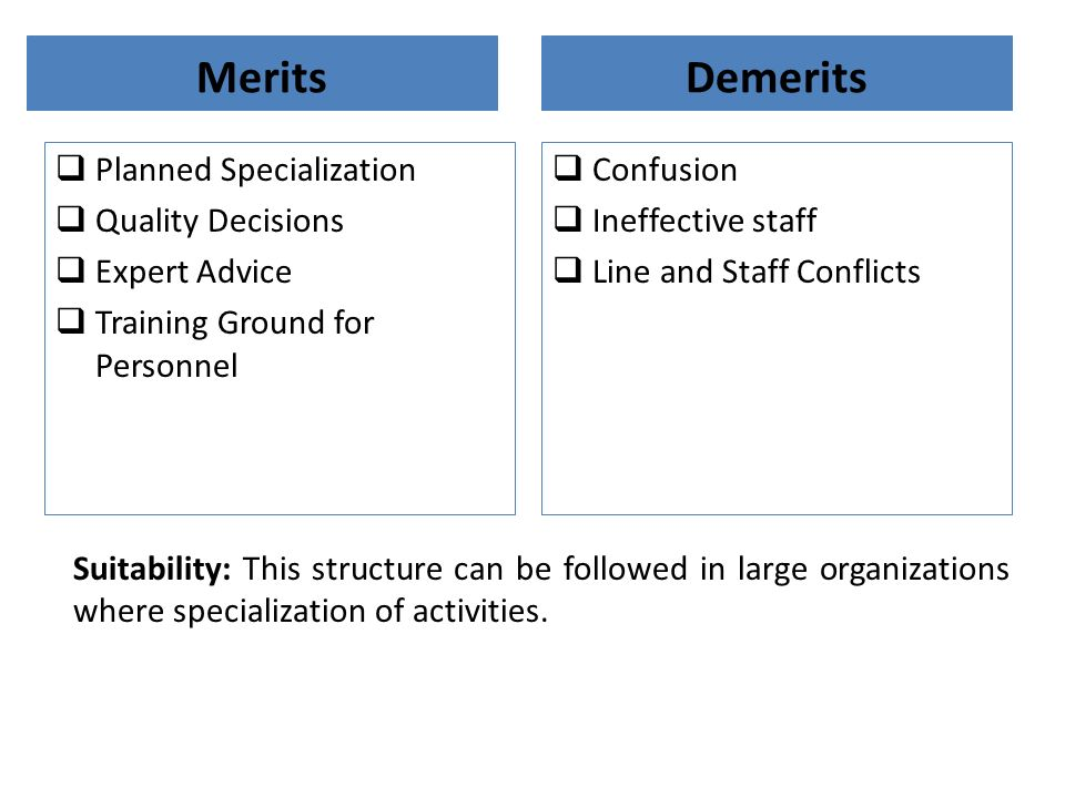 Merits Demerits Planned Specialization Quality Decisions Expert Advice