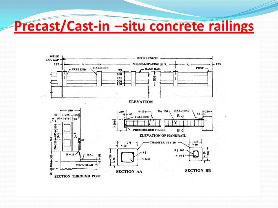 Precast/Cast-in –situ concrete railings