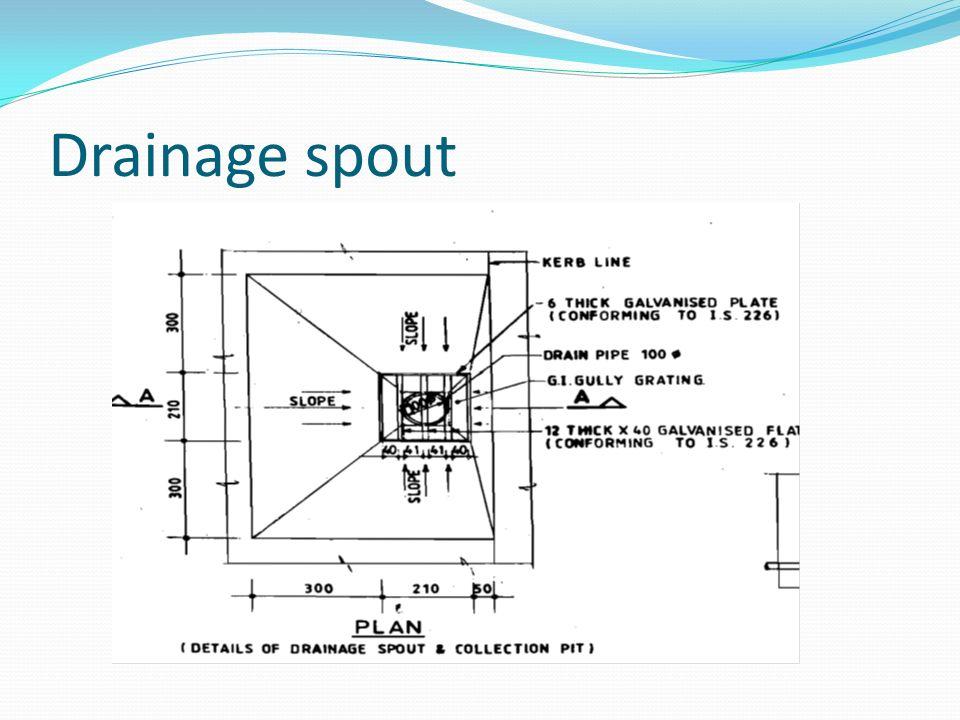 Drainage spout