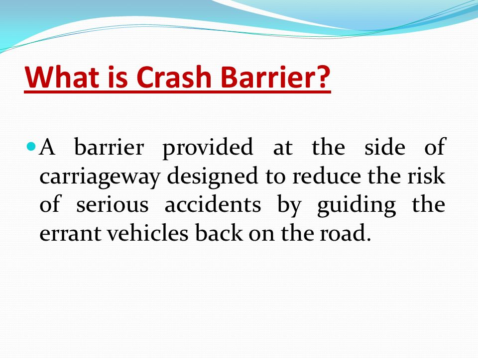 What is Crash Barrier