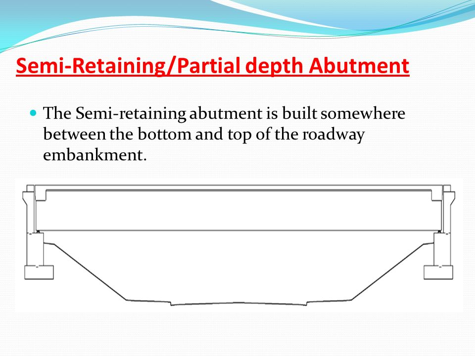 Semi-Retaining/Partial depth Abutment
