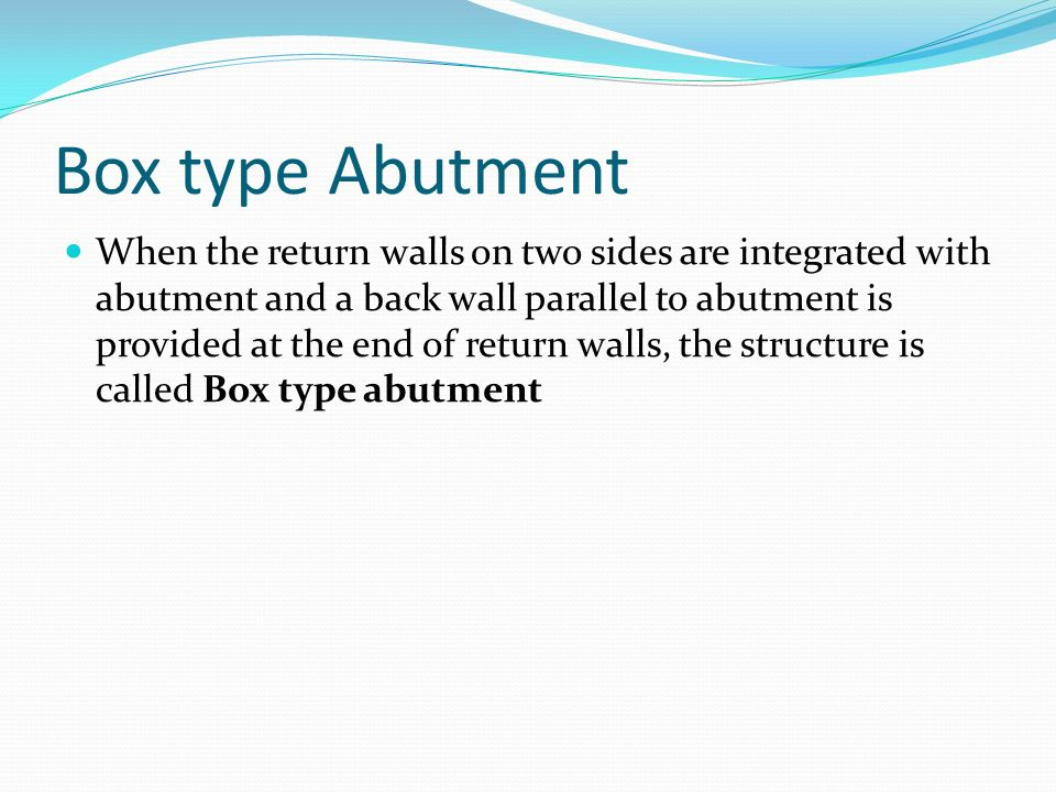 Box type Abutment