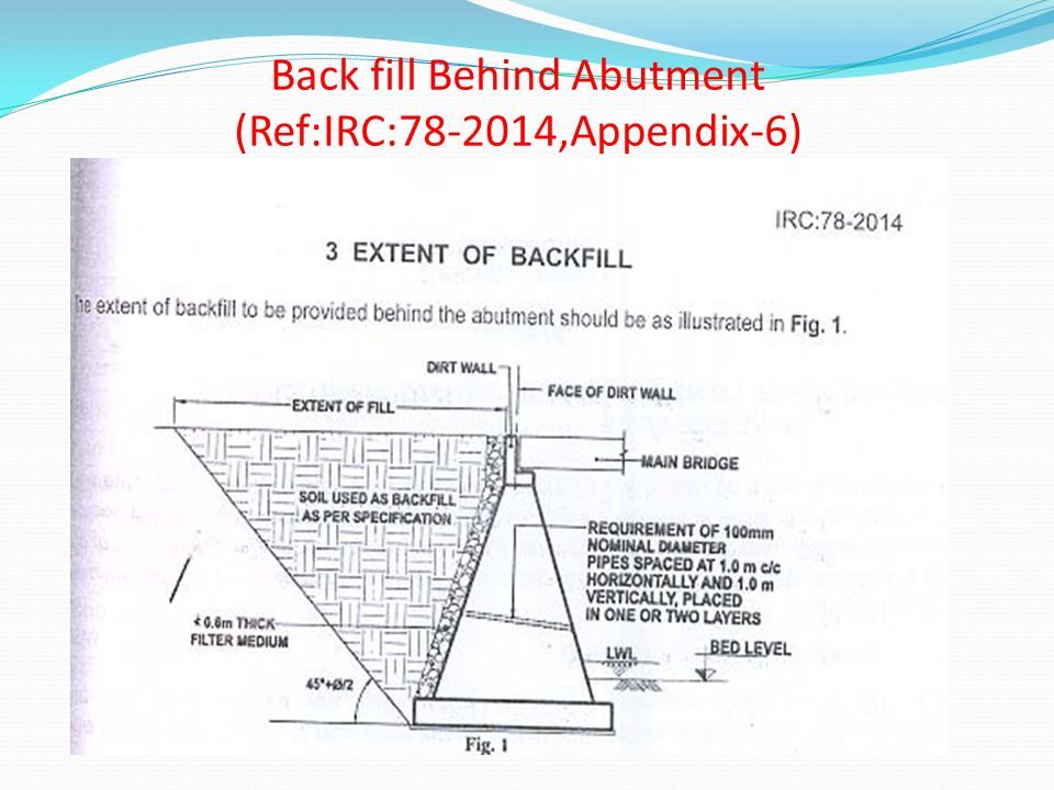 Back fill Behind Abutment (Ref:IRC:78-2014,Appendix-6)