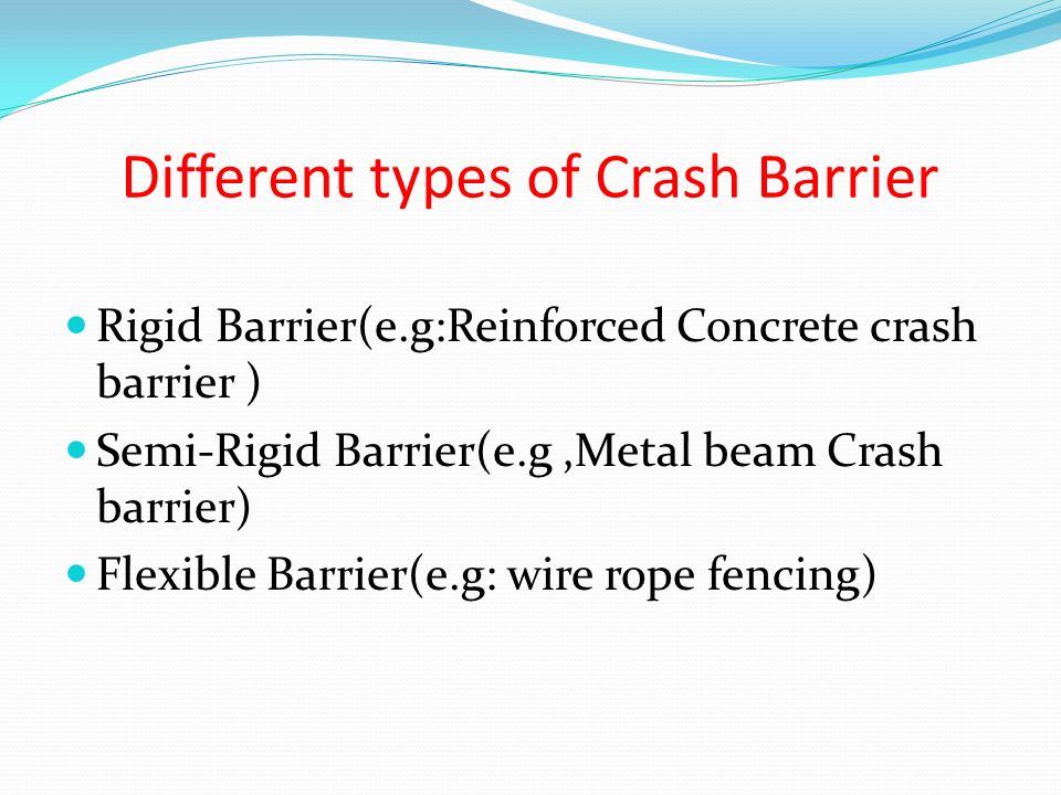 Different types of Crash Barrier