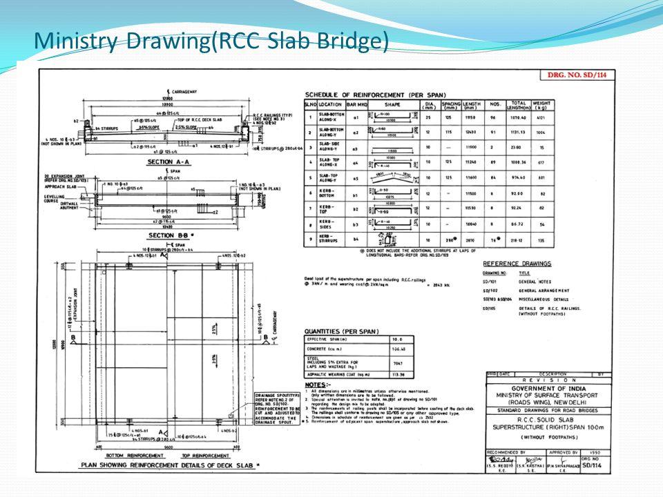 Ministry Drawing(RCC Slab Bridge)