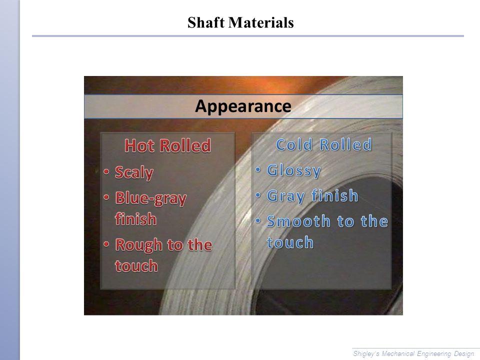 Shaft Materials Shigley's Mechanical Engineering Design