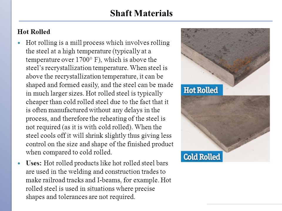 Shaft Materials Hot Rolled