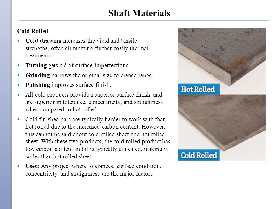 Shaft Materials Cold Rolled
