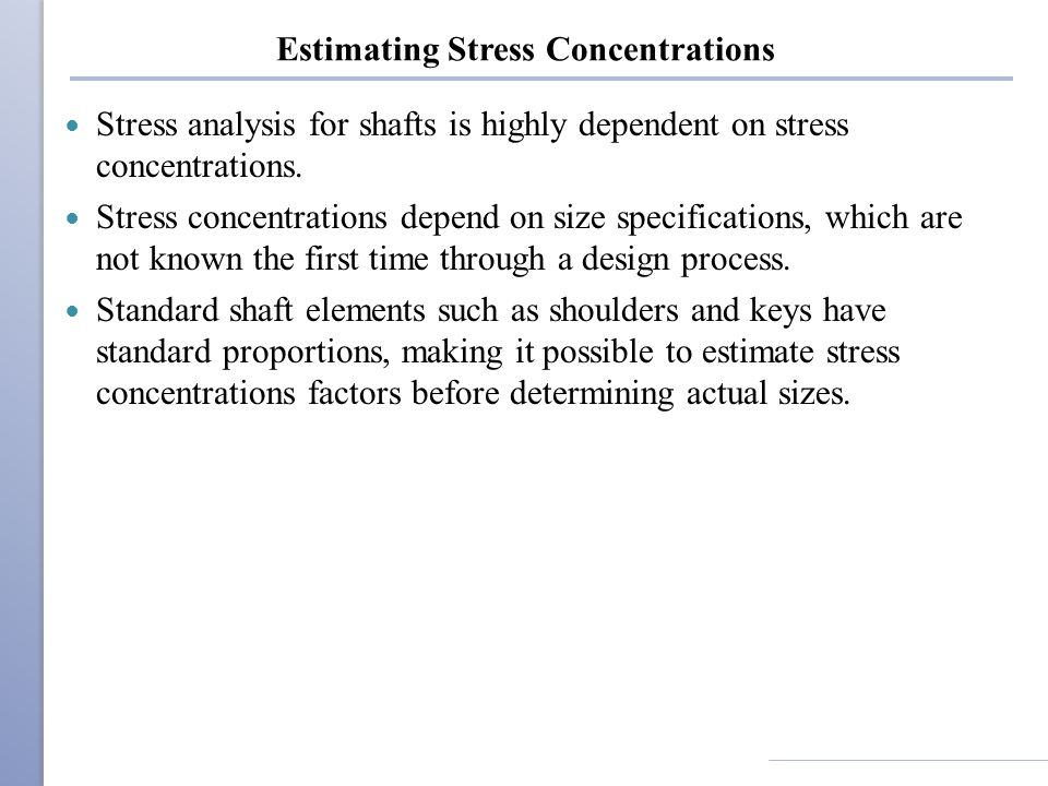 Estimating Stress Concentrations