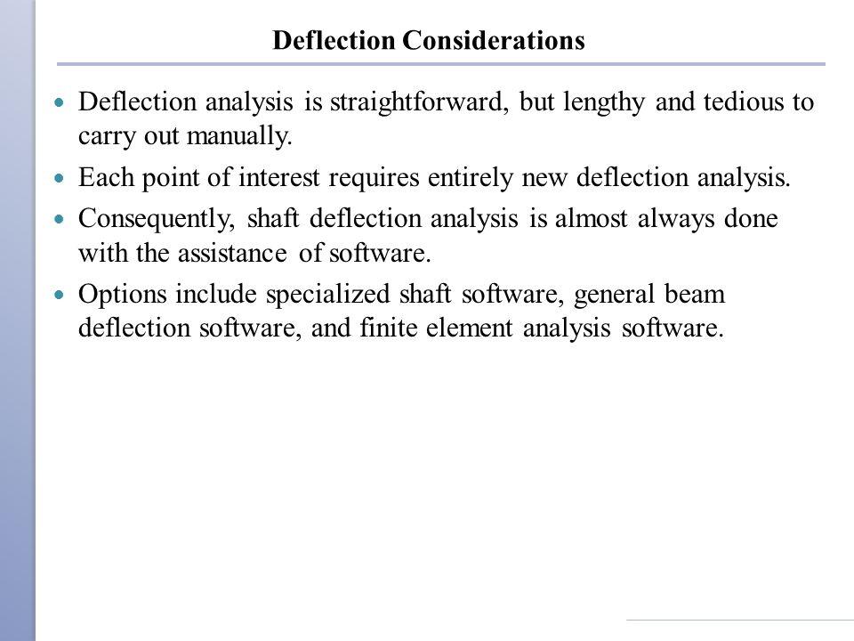 Deflection Considerations