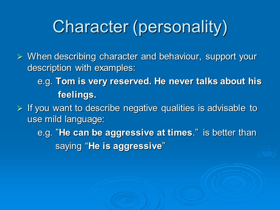 how to give your characters personality