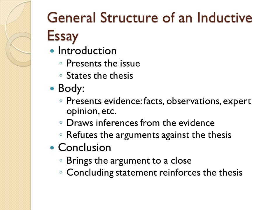 inductive thinking argumentative essay