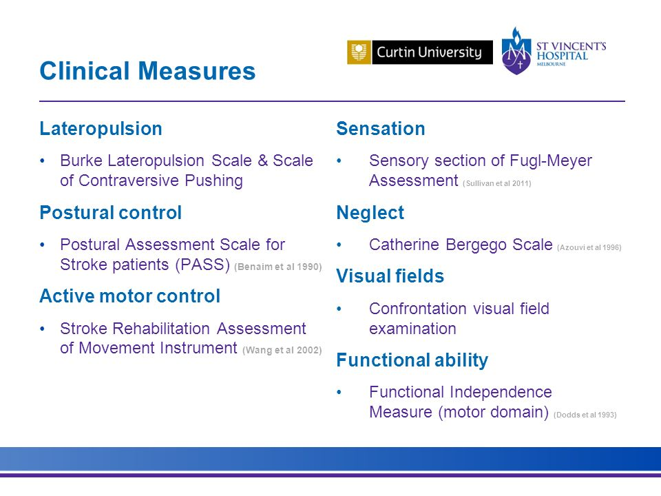 Assessment Of Balance Following Stroke: Feasibility Of