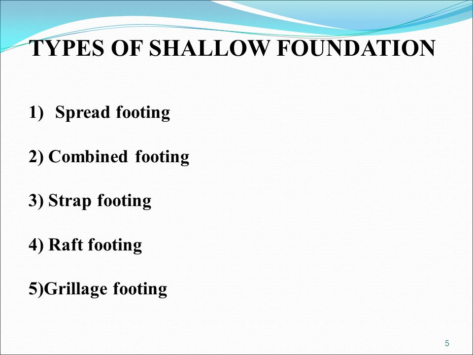 Shallow foundation stair case ppt video online download for What types of foundations are there