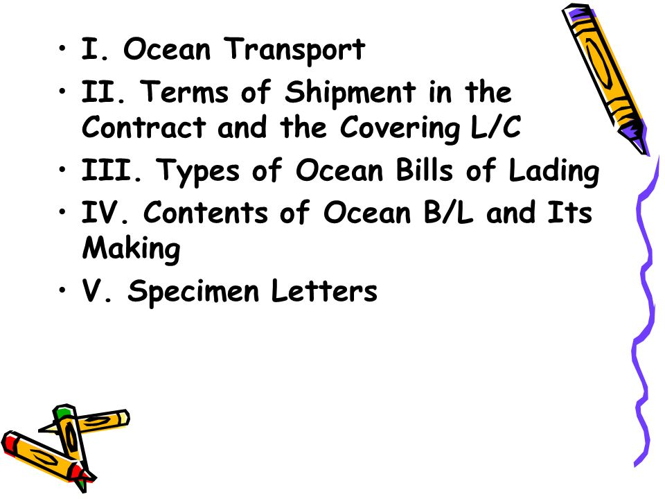 bills of lading