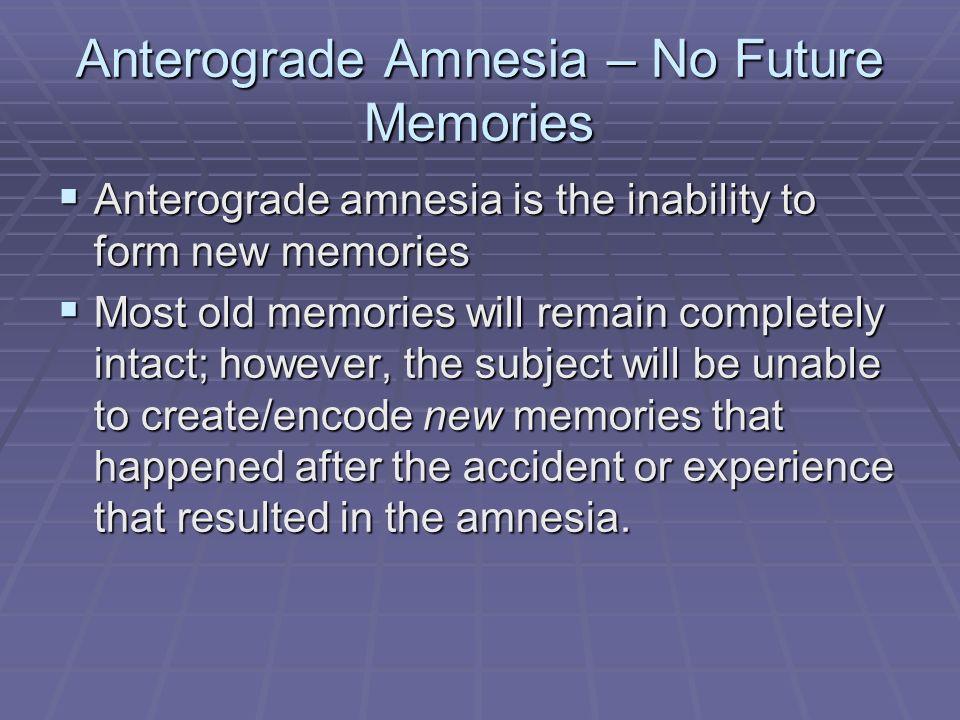 Retrograde and Anterograde - ppt video online download