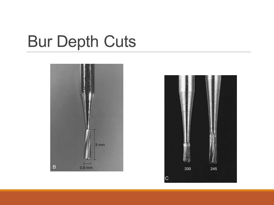 Bur Depth Cuts