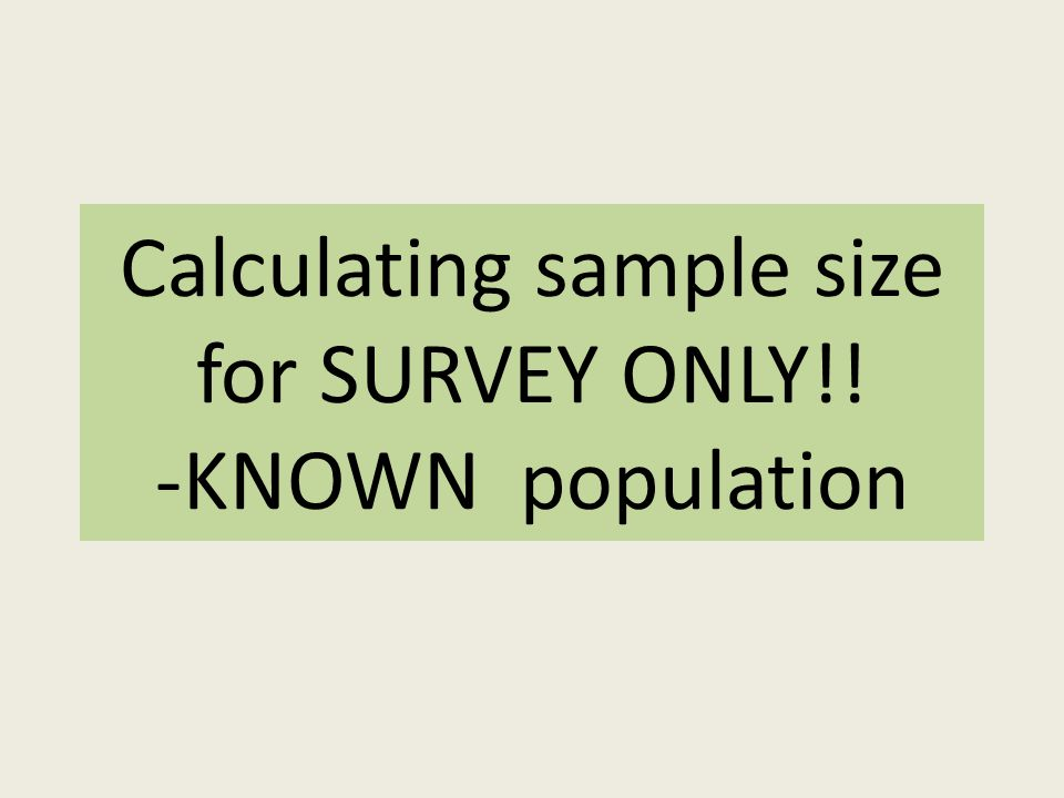 how to decide sample size for survey