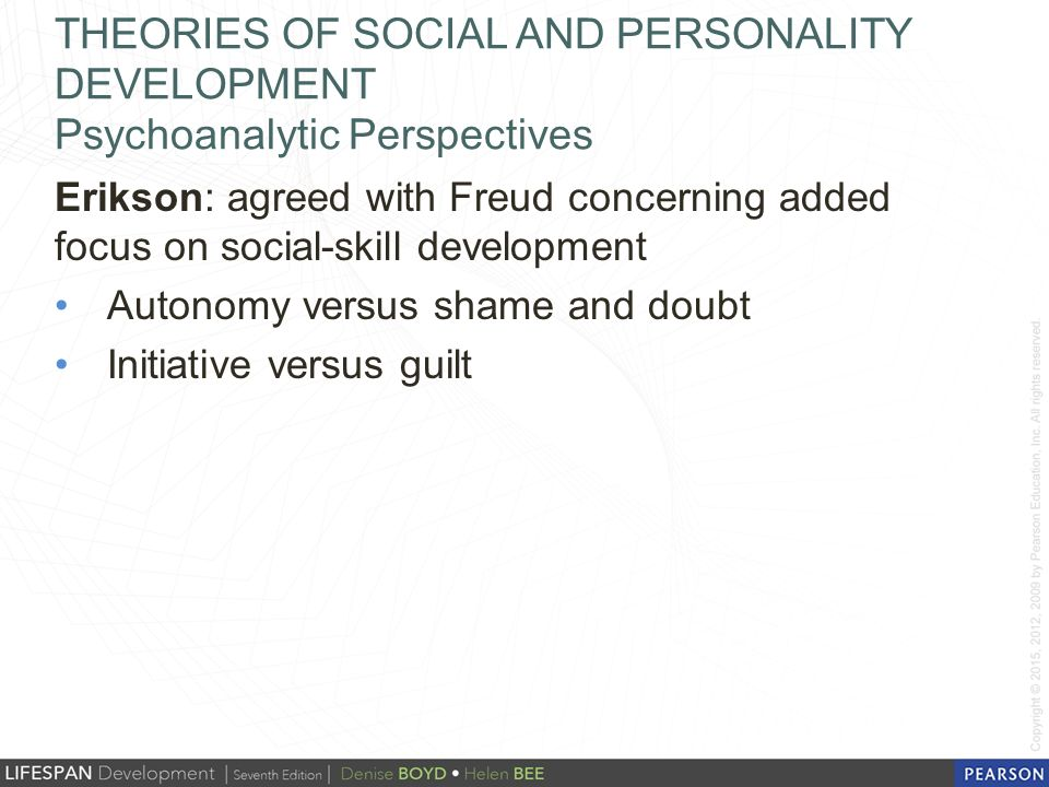 perspectives of personality development This video is specifically focused on what freud had to say about personality  development, so there would be no reason for it to mention psychotherapy or.